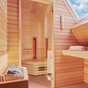 Genieten met een luxe sauna!